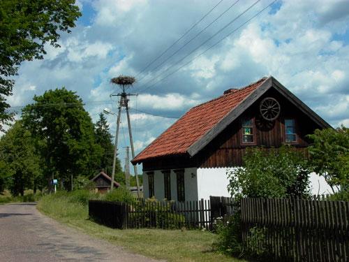 Haus mit Storch